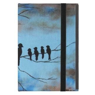 El día de madre, pájaros negros en arte abstracto iPad mini cobertura