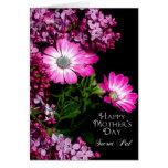 El día de madre - PAL secreto - flores fucsias Tarjetón