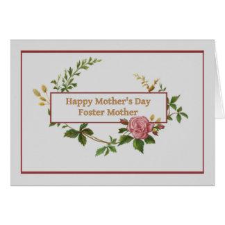 El día de madre para la mamá adoptiva, vintage tarjeta de felicitación