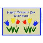 El día de madre para la tía tarjeton