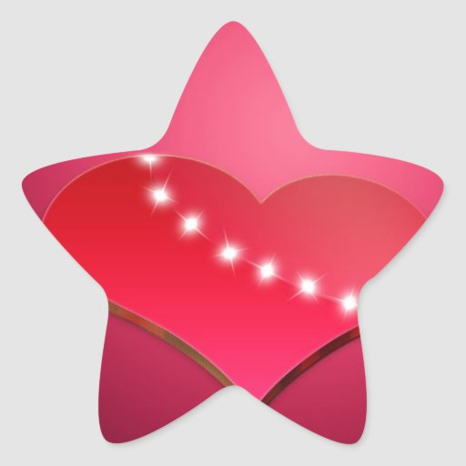 El día de madre calcomania forma de estrella personalizada