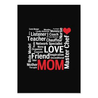 El día de madre polivalente asombroso de la mamá invitación 12,7 x 17,8 cm