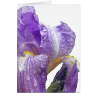 El día de madre púrpura personalizada del iris tarjeta de felicitación