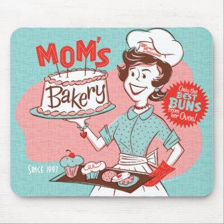 El día de madre retro de la panadería de la mamá M Alfombrilla De Ratones