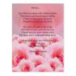 El día de madre rosado de los rosas postal