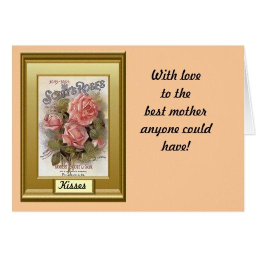 El día de madre, rosas anaranjados tarjetas