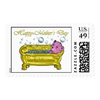 El día de madre, tarjeta feliz del día de madre sellos