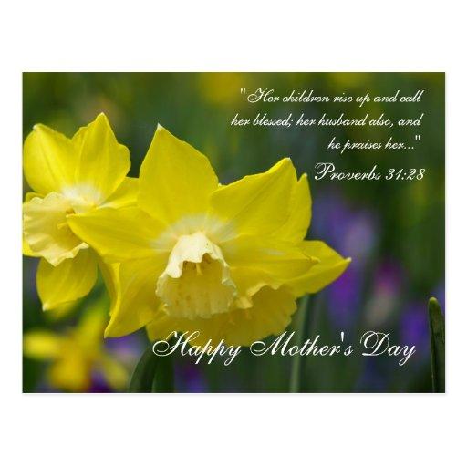 El día de madre tarjeta postal