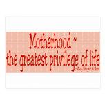 El día de madre tarjetas postales