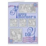 El día de madres AÑADE SU azul de la cadena de mar Tarjetas