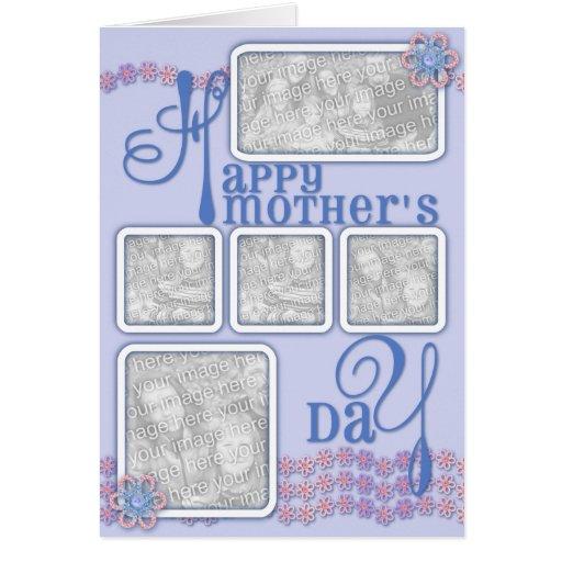 El día de madres AÑADE SU azul de la cadena de Tarjeta De Felicitación