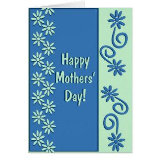 El día de madres feliz florido tarjeta de felicitación