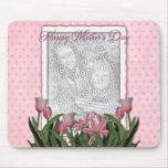 El día de madres - tulipanes rosados - añade su pr tapete de raton