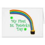 El día de mi primer St Patrick Felicitaciones