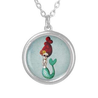 El Dia de Muertos Mermaid Colgantes Personalizados
