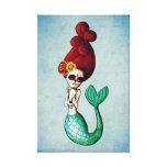 El Dia de Muertos Mermaid Lienzo Envuelto Para Galerías