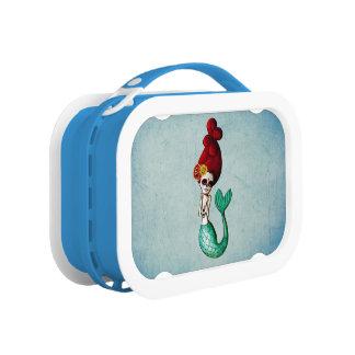 El Dia de Muertos Mermaid Lunch Boxes