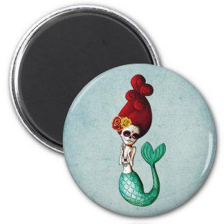 El Dia de Muertos Mermaid Fridge Magnets