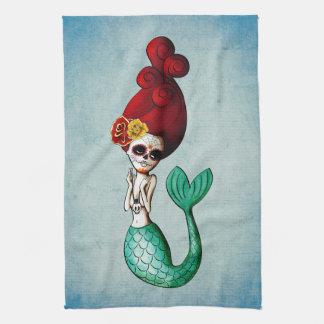 El Dia de Muertos Mermaid Toallas