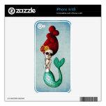 El Dia de Muertos Mermaid Calcomanía Para El iPhone 4S