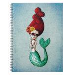 El Dia de Muertos Mermaid Spiral Notebooks