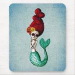 El Dia de Muertos Mermaid Tapete De Ratones