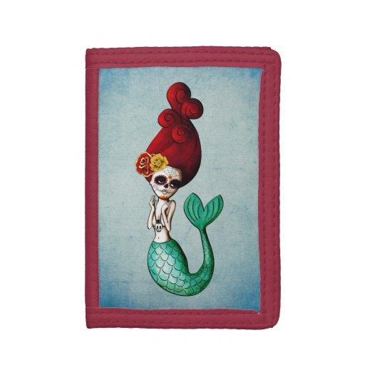 El Dia de Muertos Mermaid Wallets