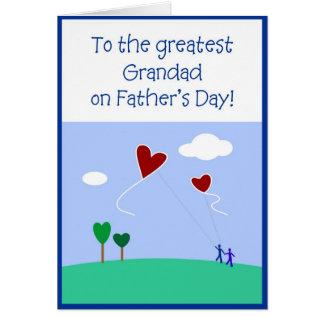El día de padre - abuelo tarjeta de felicitación