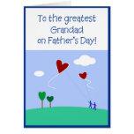 El día de padre - abuelo tarjetas