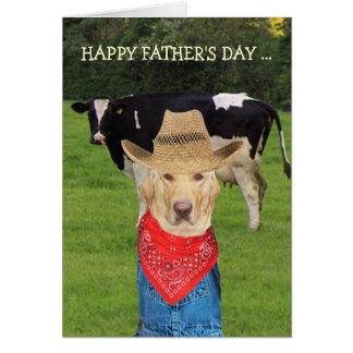 El día de padre adaptable divertido para el tarjeta de felicitación