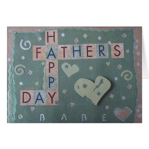 El día de padre - bebé - libro de recuerdos 1 - tarjeta de felicitación
