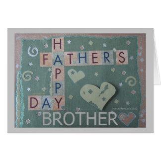 El día de padre - Brother - tarjeta del libro de r