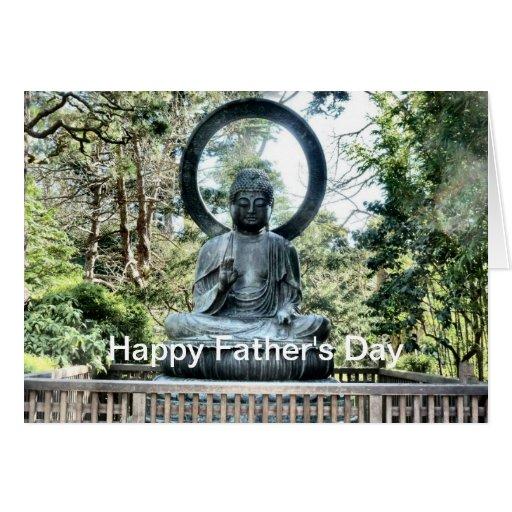 El día de padre Buda Tarjeta De Felicitación