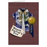El día de padre - camisa de la tierra de los papás tarjeta de felicitación