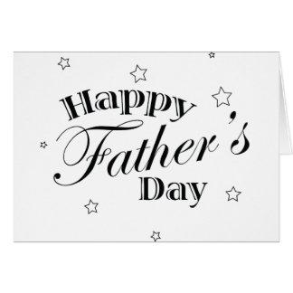 El día de padre clásico felicitacion