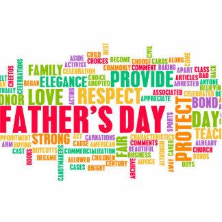 El día de padre como día especial con palabras adorno fotoescultura