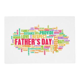 El día de padre como día especial con palabras salvamanteles