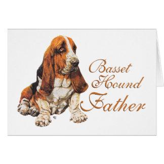 El día de padre de Basset Hound Tarjeta