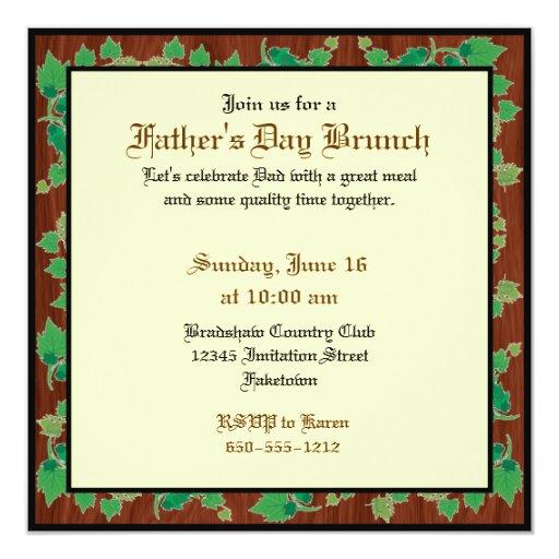 El día de padre de encargo invita (el diseño de invitación 13,3 cm x 13,3cm