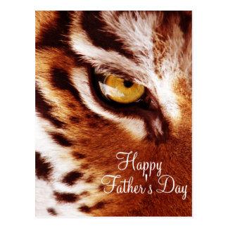 El día de padre de la fotografía del ojo del tigre postal