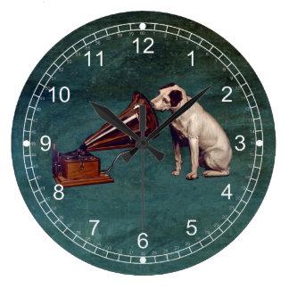 El día de padre de la voz de su amo reloj redondo grande