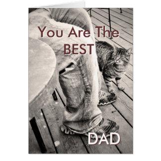"""El """"día de padre de los mascotas"""" Samson la foto Tarjeta De Felicitación"""