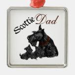 El día de padre de Terrier del escocés Ornamento Para Reyes Magos