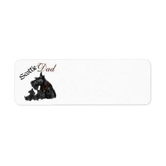 El día de padre de Terrier del escocés Etiqueta De Remitente