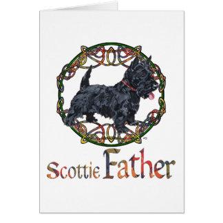 El día de padre de Terrier del escocés Tarjeta De Felicitación
