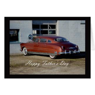 El día de padre del coche antiguo tarjeta de felicitación