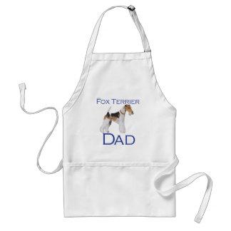 El día de padre del fox terrier del alambre delantal