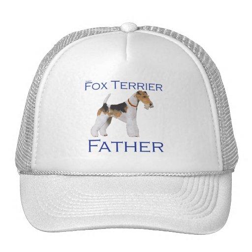 El día de padre del fox terrier del alambre gorros