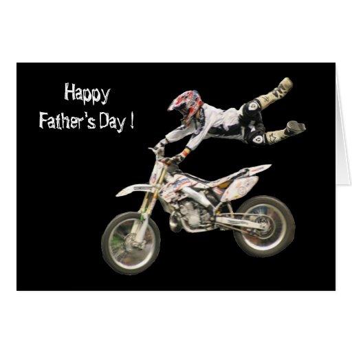 el día de padre del moto tarjeta de felicitación