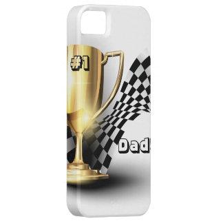 El día de padre del papá del número uno del trofeo funda para iPhone 5 barely there